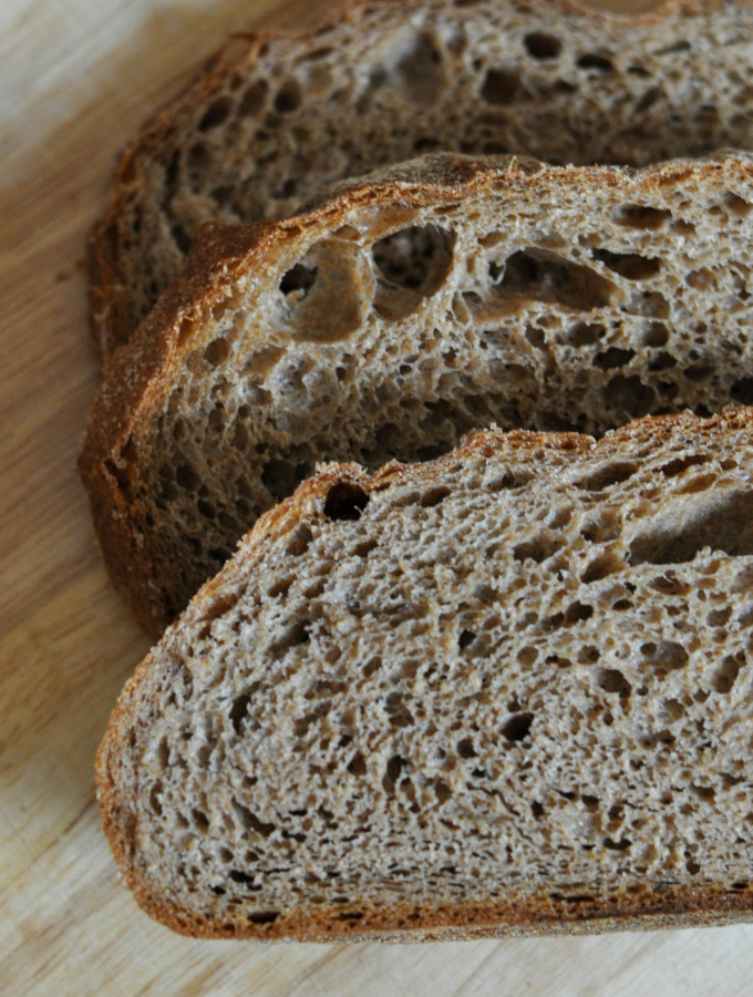 Sprouted Whole Wheat No-Knead Bread