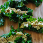 Curry Chicken Salad Kale Wrappers http://www.thescratchartist.com