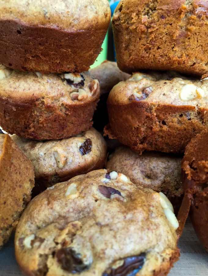 Almond Butter Banana Raisin Muffins GF