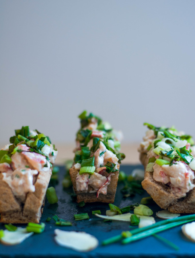 Lobster Rolls with Ginger and Scallions