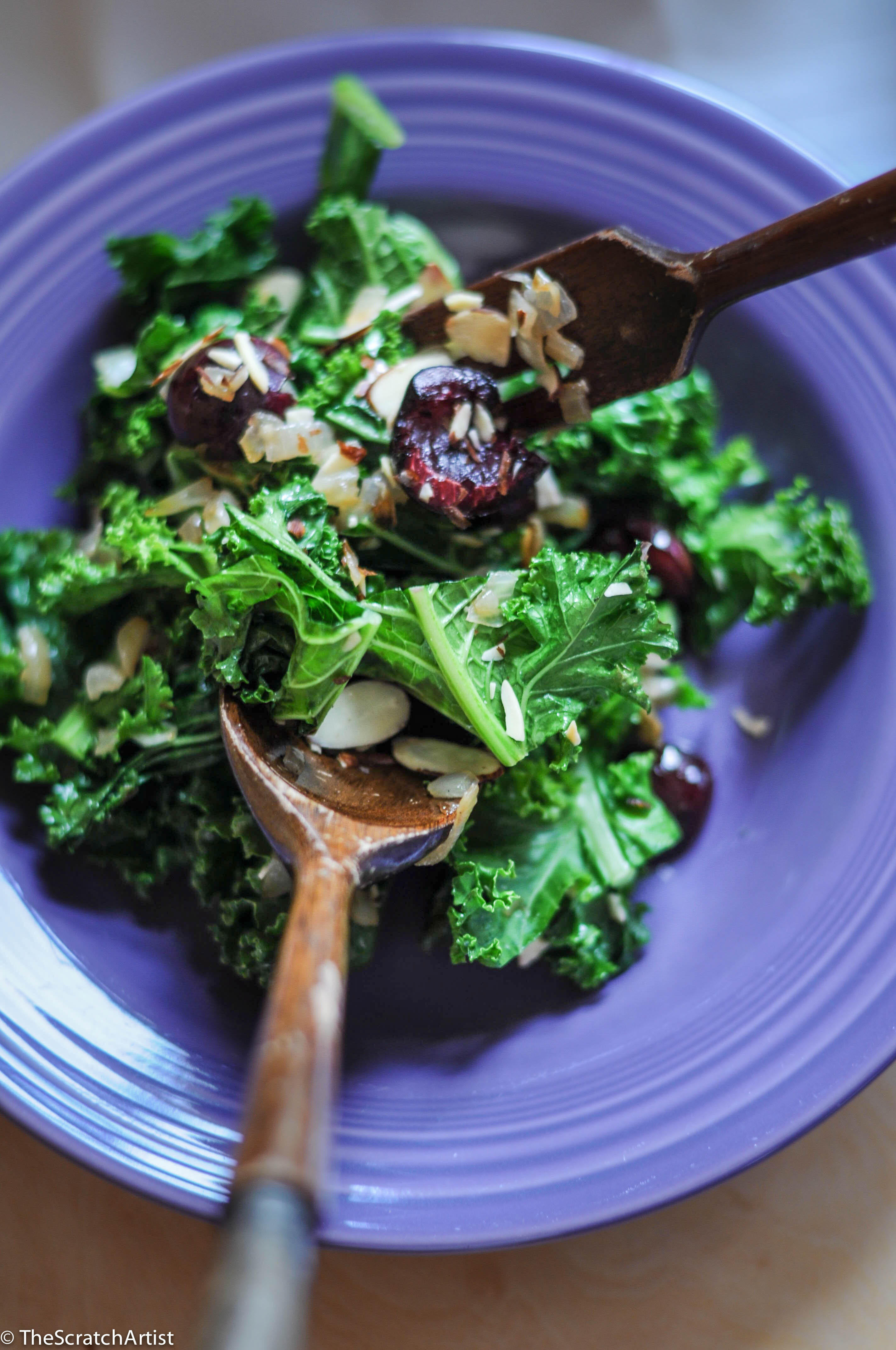 Roasted Cherry & Kale Salad The Scratch Artist