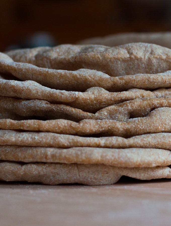 Homemade Whole Grain Pita Bread - The Scratch Artist