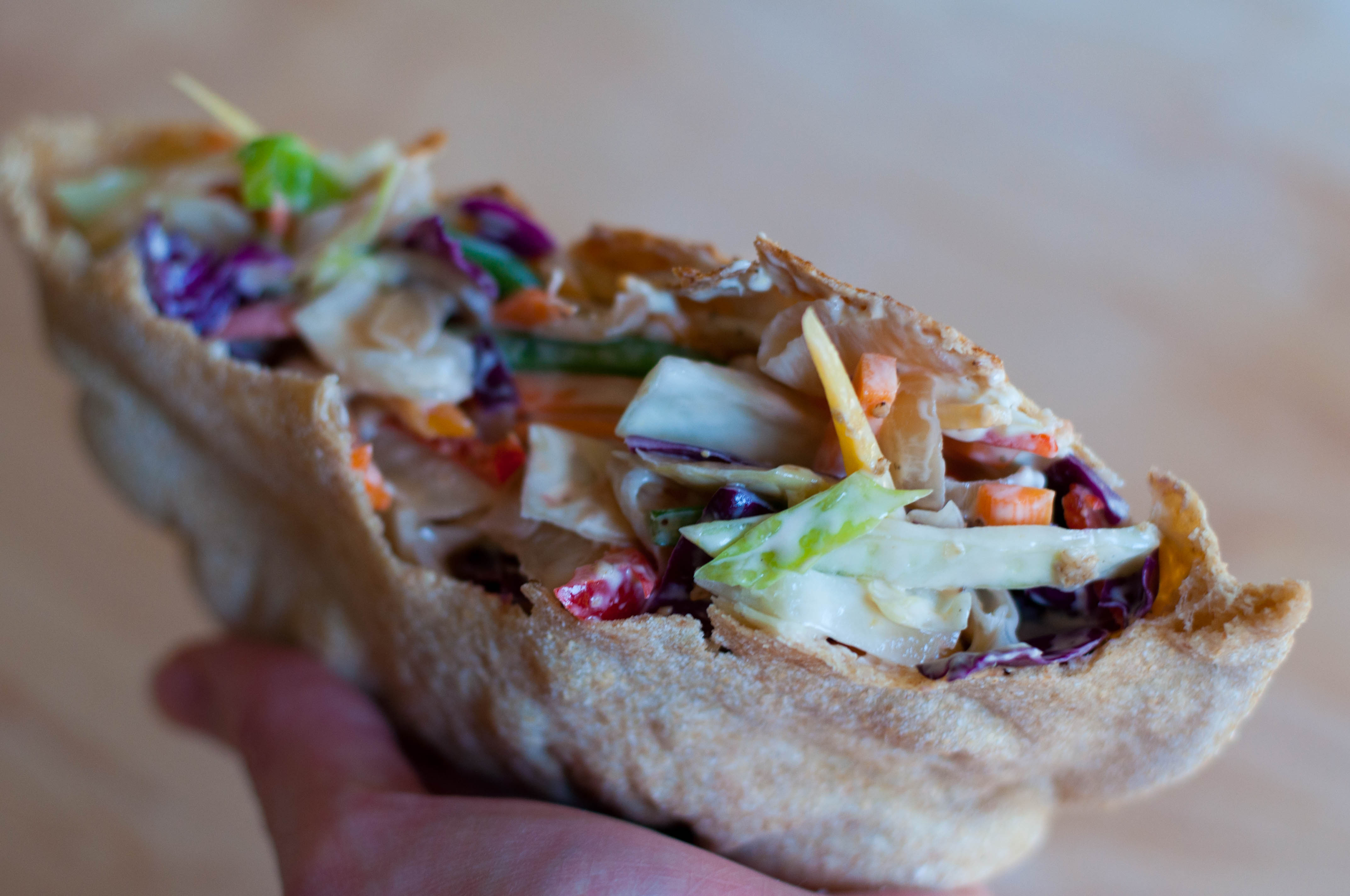 Summer Coleslaw Stuffed Pitas - The Scratch Artist