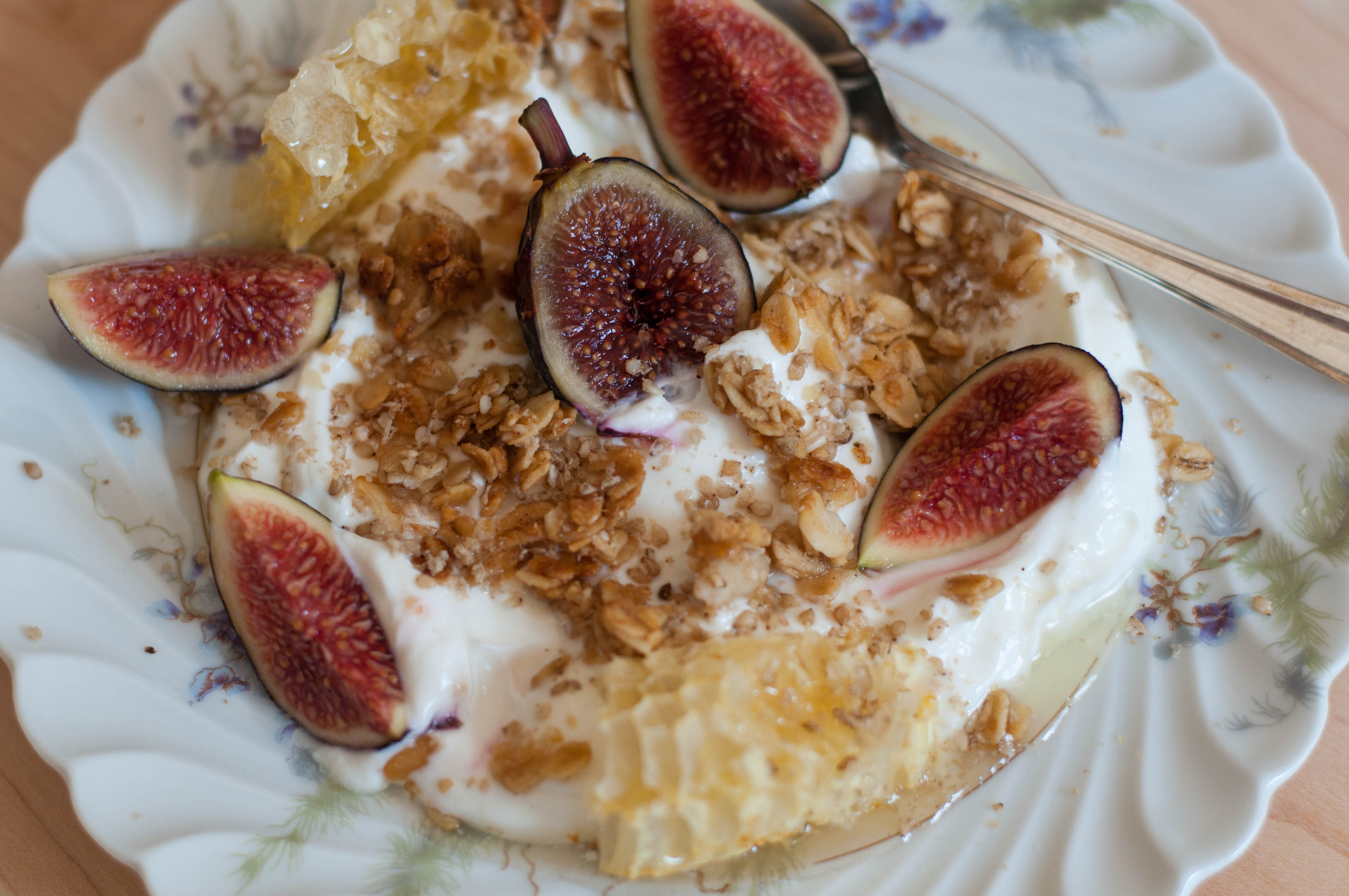 Tahini & Honey Granola with Fresh Fig Greek Yogurt - The Scratch Artist
