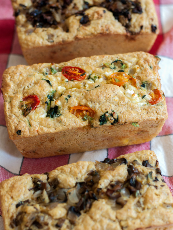 Flaxseed & Chickpea Mini-loaves (Quiche in Bread Form!) Gluten Free