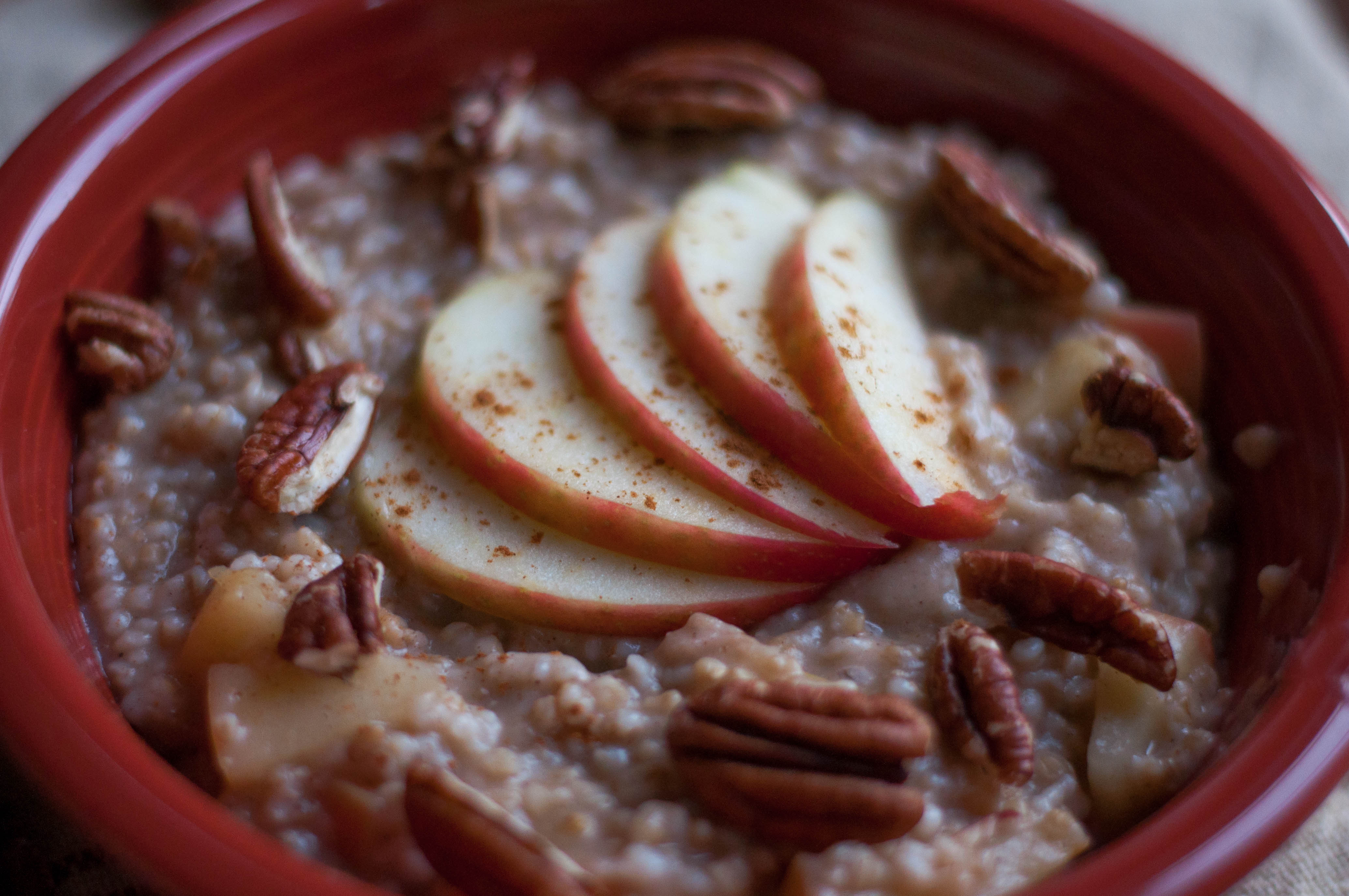 A Fall Spiced Apple & Miso Oatmeal - The Scratch Artist