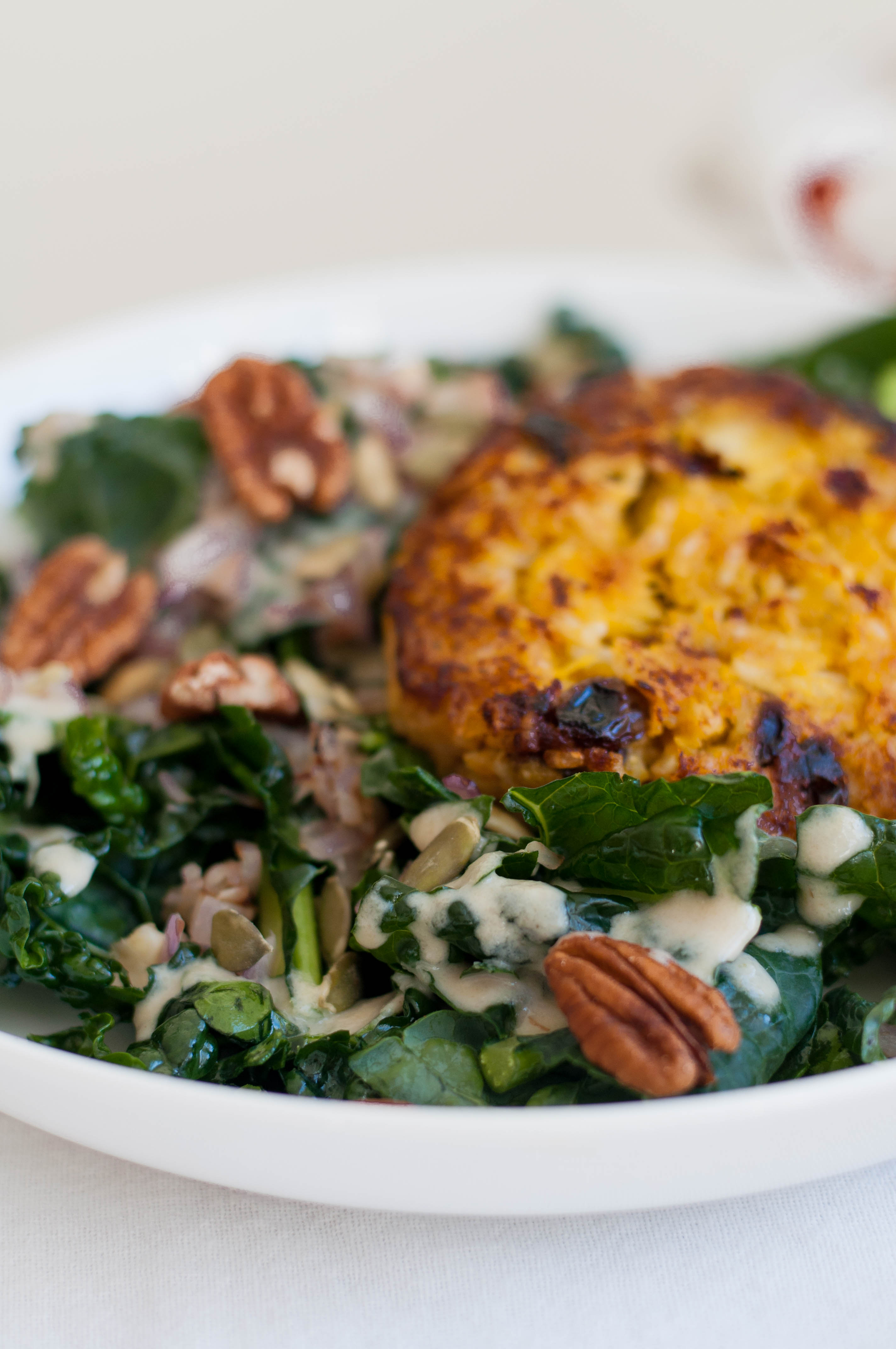 Curried Pumpkin Patch Patties & Kale Salad - The Scratch Artist-19