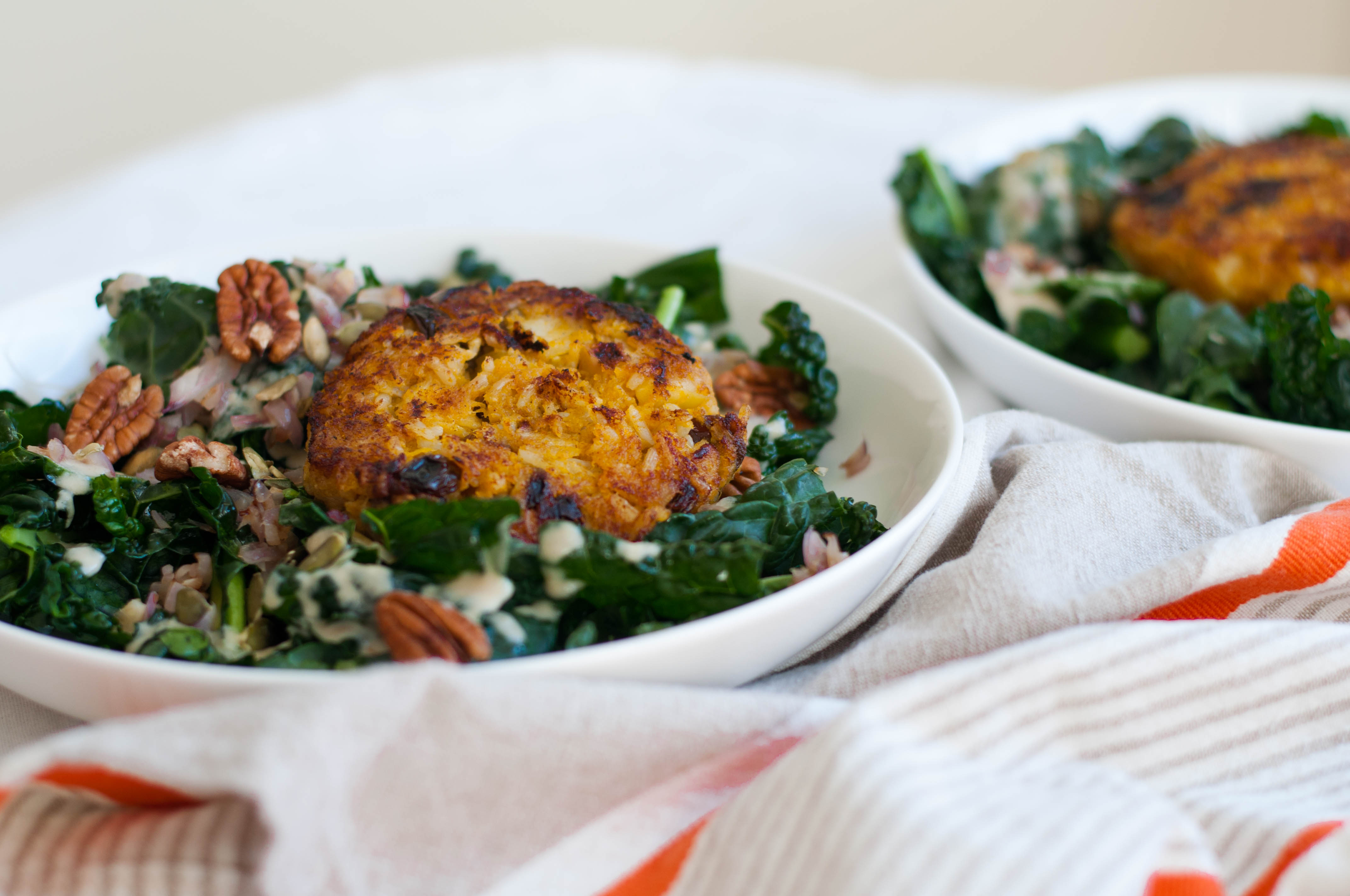 Curried Pumpkin Patch Patties & Kale Salad - The Scratch Artist-22