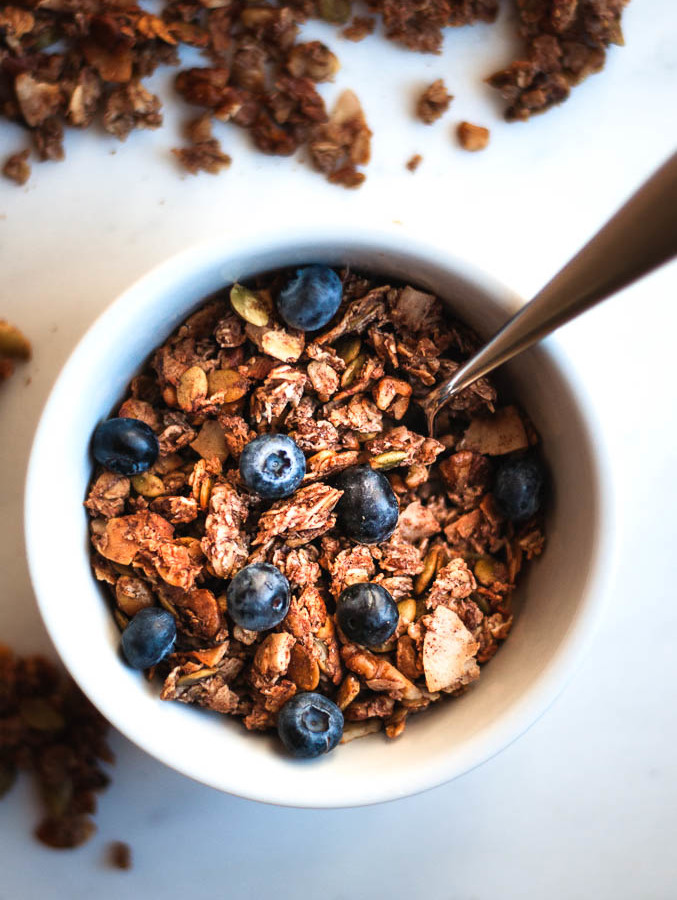 Fruit Sweetened Banana Walnut Granola – Vegan & Gluten Free